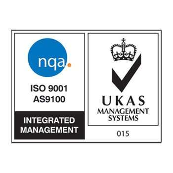 image shows the logos of ISO 9001 AS9100 and UKAS Management Systems